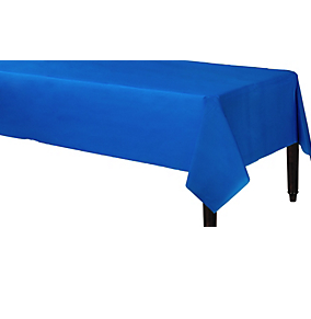 Tablecover Plastic Rectangle Br Royal Blue