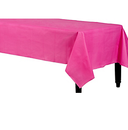 Tablecover Plastic Rectangle Bright Pink