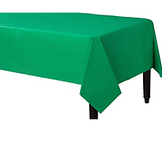 Tablecover Plastic Rectangle Festive Green