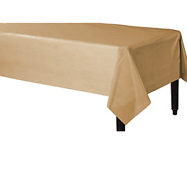 Tablecover Plastic Rectangle Gold