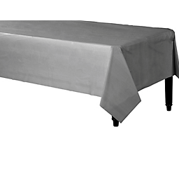 Tablecover Plastic Rectangle Silver
