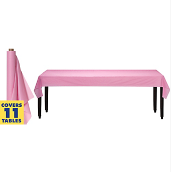 Tablecover Plastic Roll New Pink