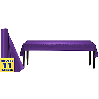 Tablecover Plastic Roll Purple