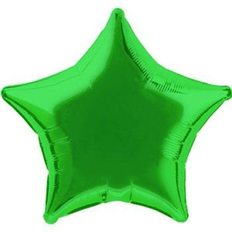 "18"" Mylar Star Green (Empty) #024"