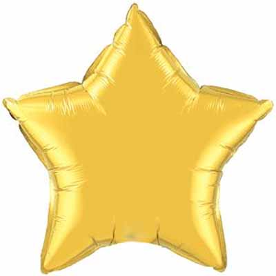 "18"" Mylar Star Gold (Empty) #028"