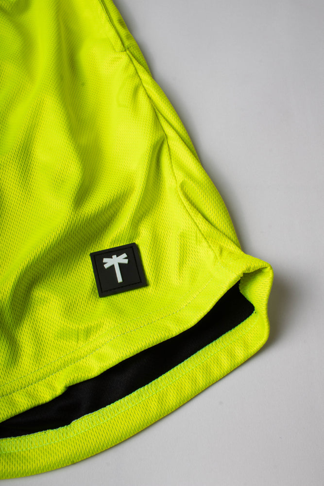 PalmEraMia Neon Yellow Mesh Shorts