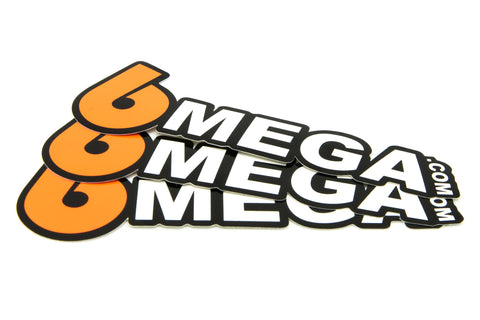 6Mega.com Decals (3 Pack)