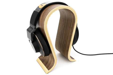 6Mega Bamboo Headphone Stand