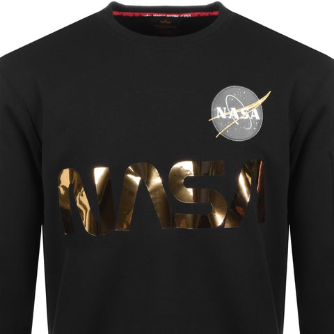 NASA Reflective Sweater Black/Gold | Alpha Industries