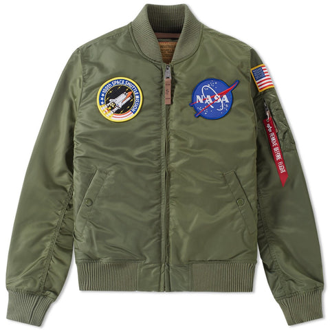 NASA MA-1 VF Sage Flight Jacket | Alpha Industries - & BLANC