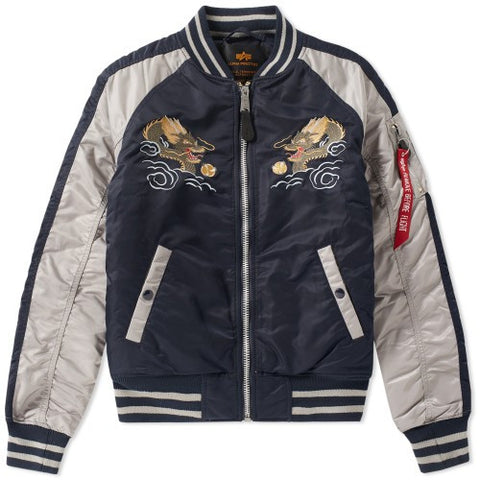 Japan Dragon Navy Jacket | Alpha Industries - & BLANC