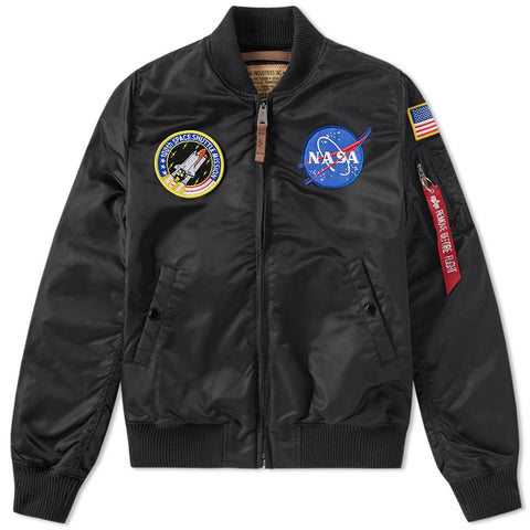 NASA MA-1 Black Flight Jacket | Alpha Industries - &BLANC - 1