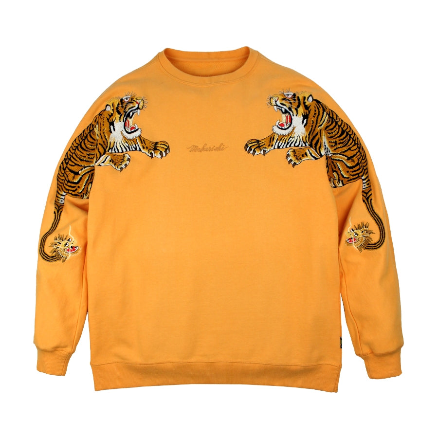 7055 Tiger Style Crew Sweat Orange | MAHARISHI