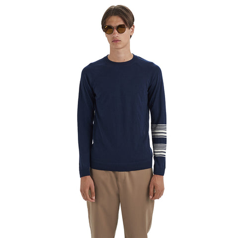 Bakoo Sweater Navy | Wood Wood - & BLANC