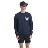 Houston Sweatshirt AA Navy | Wood Wood - &BLANC - 2