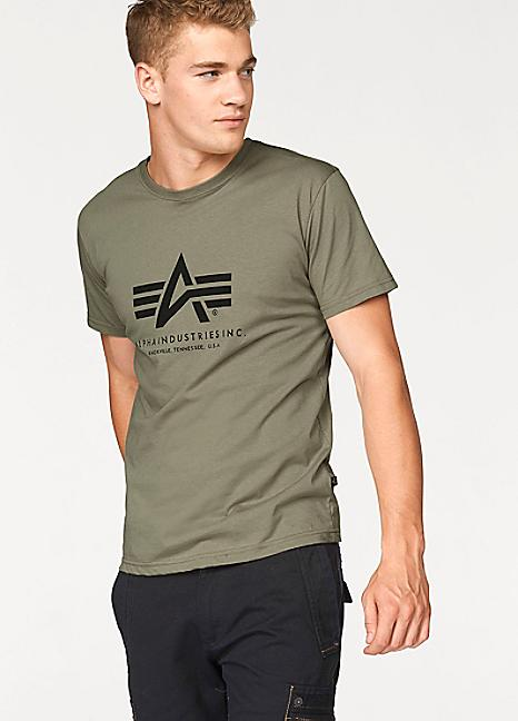 pretty nice c8e84 bc222 Basic Logo Tee (Olive) | Alpha Industries