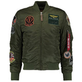 MA-1 Pilot Dark Green Jacket | Alpha Industries - & BLANC
