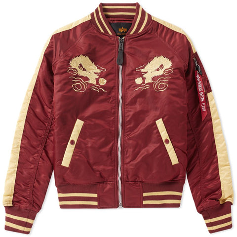 Japan Dragon Burgundy Jacket | Alpha Industries - & BLANC