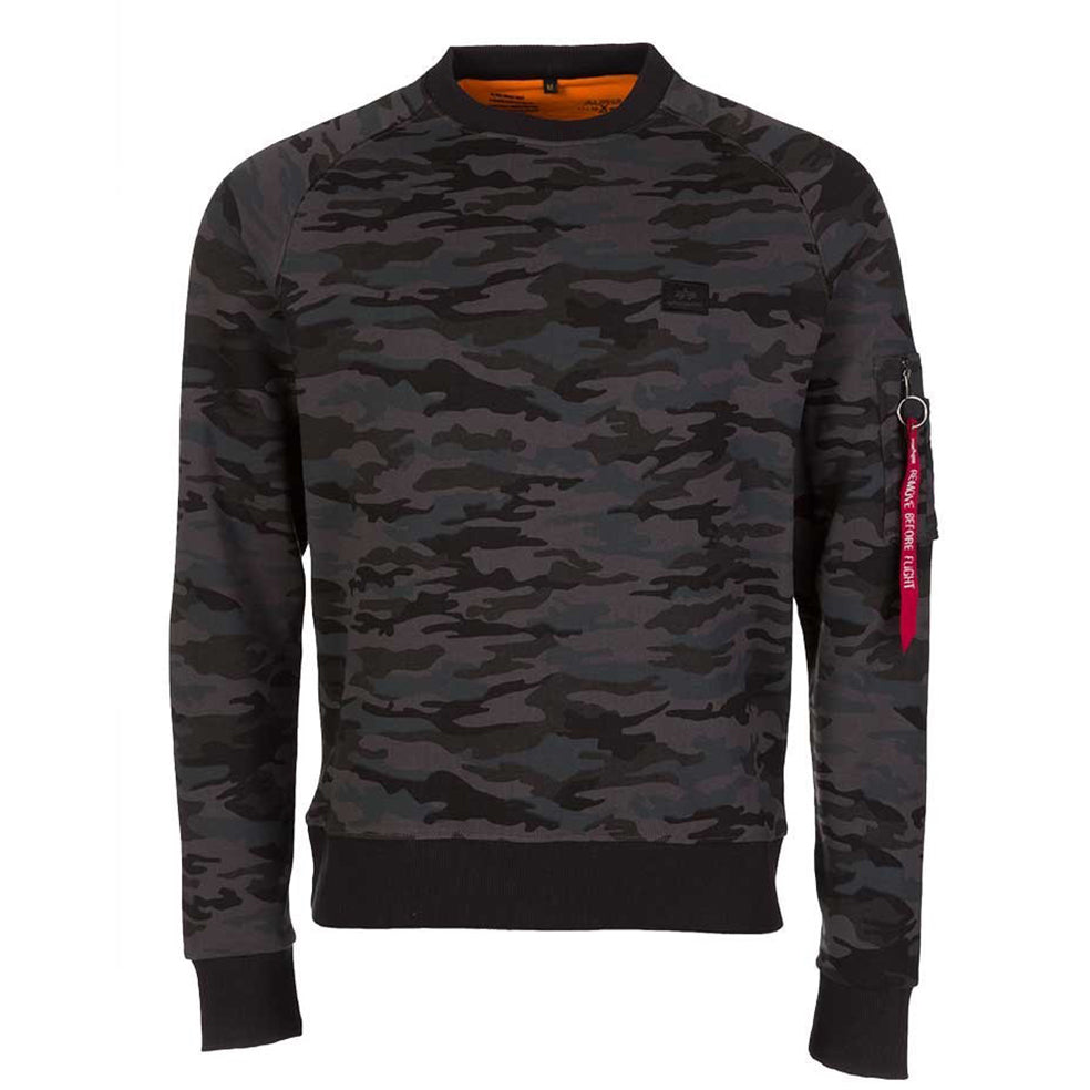 X-Fit Sweatshirt Black Camo | Alpha Industries - & BLANC
