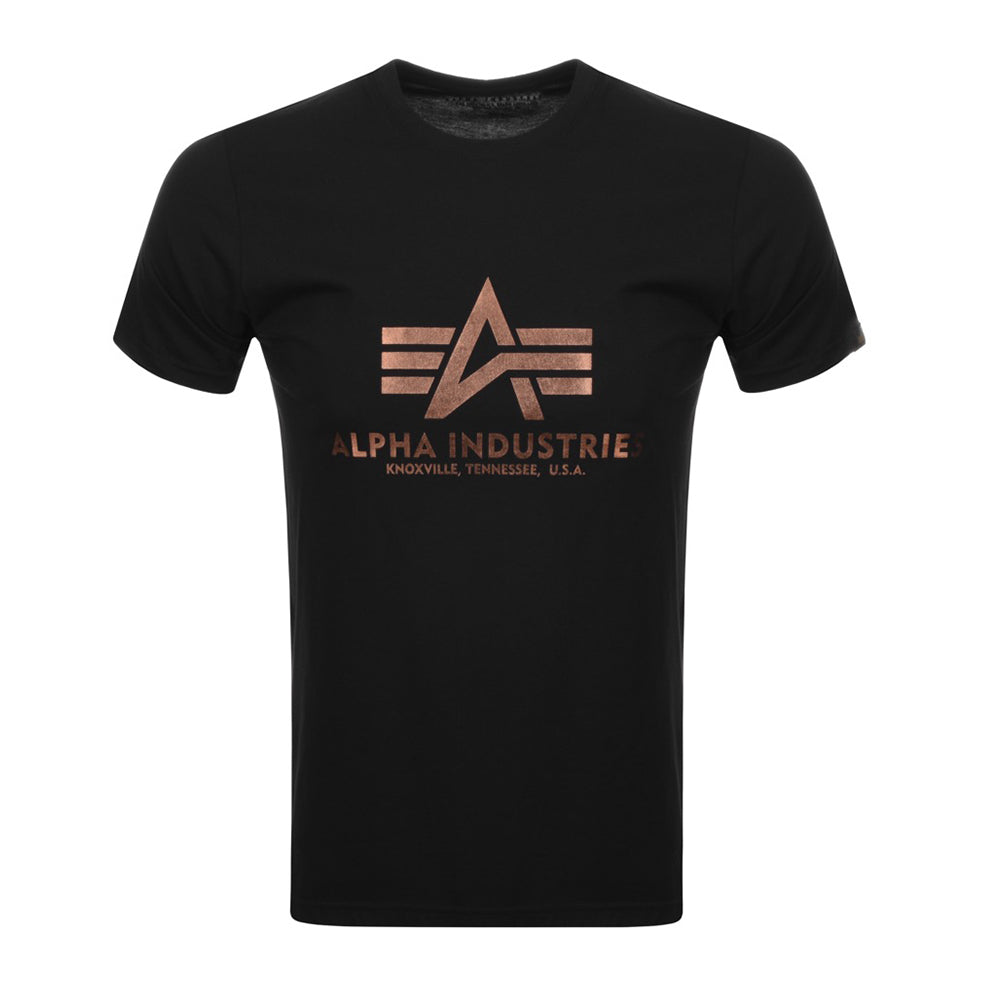 Basic Logo Tee (Black/Gold) | Alpha Industries - & BLANC