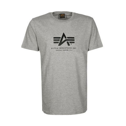 Basic Logo Tee (Gray Heather) | Alpha Industries - & BLANC