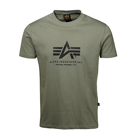 Basic Logo Tee (Olive) | Alpha Industries - & BLANC