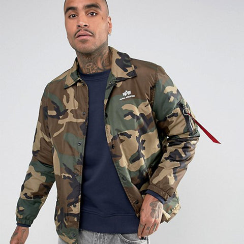 Coach Jacket CW Woodland Camo | Alpha Industries