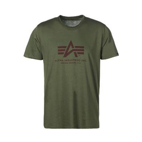 Basic Logo Tee (Dark Green) | Alpha Industries - & BLANC