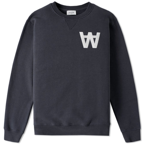 Houston Sweatshirt AA Navy | Wood Wood - & BLANC