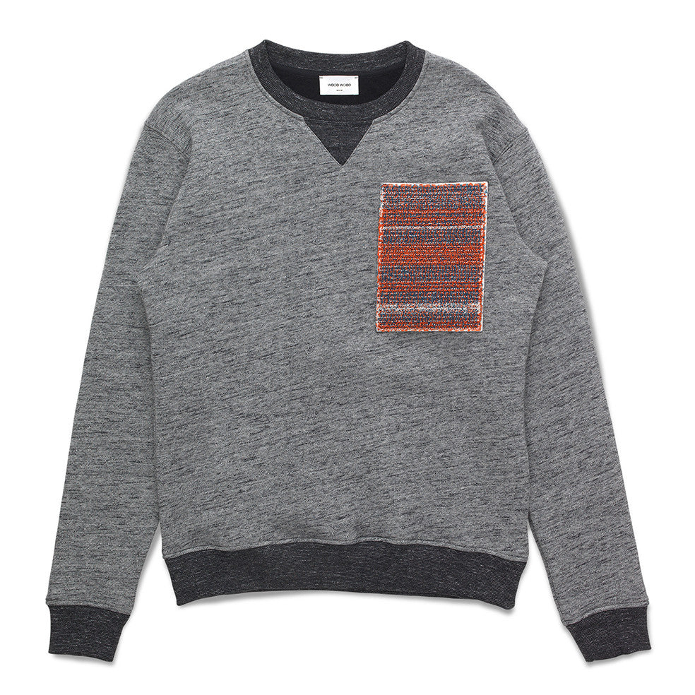 Houston sweatshirt Dark Melange | Wood Wood - &BLANC - 1