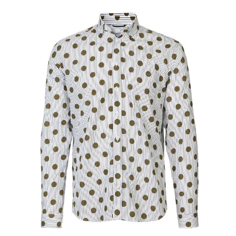 Hunter Shirt Gold Polka Dot | Libertine- Libertine - & BLANC