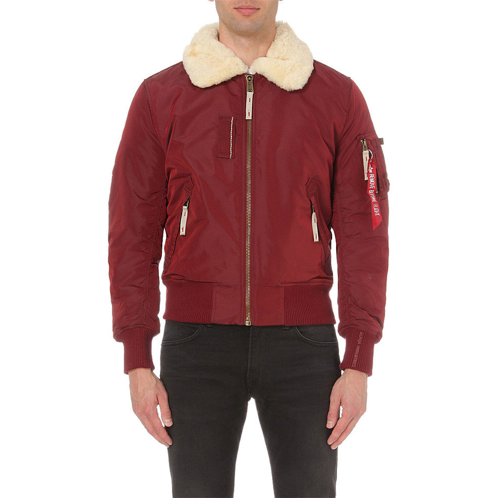 Injector lll shearling-trimmed Jacket  | Alpha Industries - & BLANC