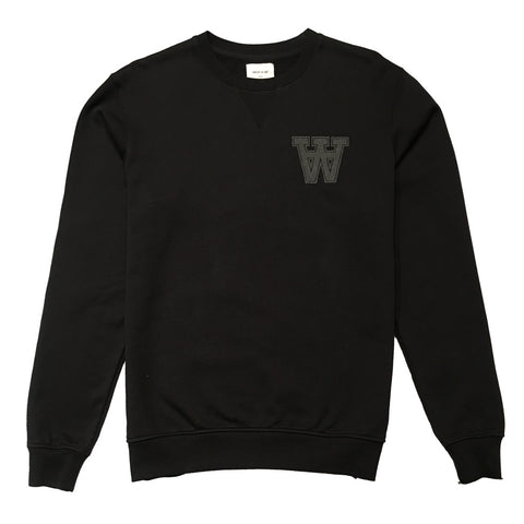 Kyle Sweatshirt Black | Wood Wood - & BLANC