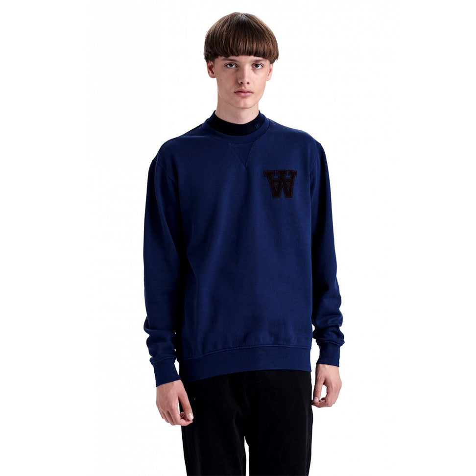 Kyle Sweatshirt Blue | Wood Wood - & BLANC