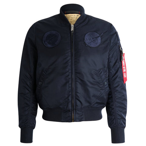 NASA MA-1 VF All Rep Blue Flight Jacket | Alpha Industries - & BLANC