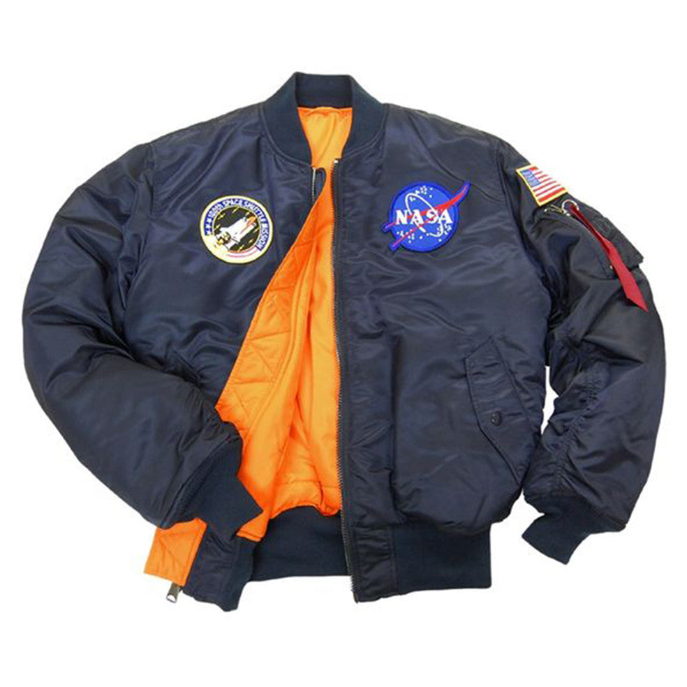 NASA MA-1 Flight Navy Jacket | Alpha Industries - & BLANC