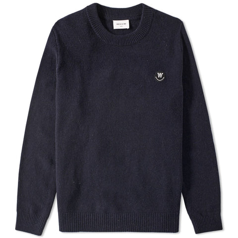 Yale Sweater Dark Navy | Wood Wood - & BLANC