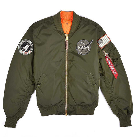 MA-1 VF NASA RP Jacket Reversible 257 Dark Green | Alpha Industries - & BLANC