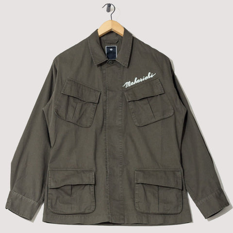 Stencil Tiger Jungle Jacket (Military Olive) | MAHARISHI - & BLANC