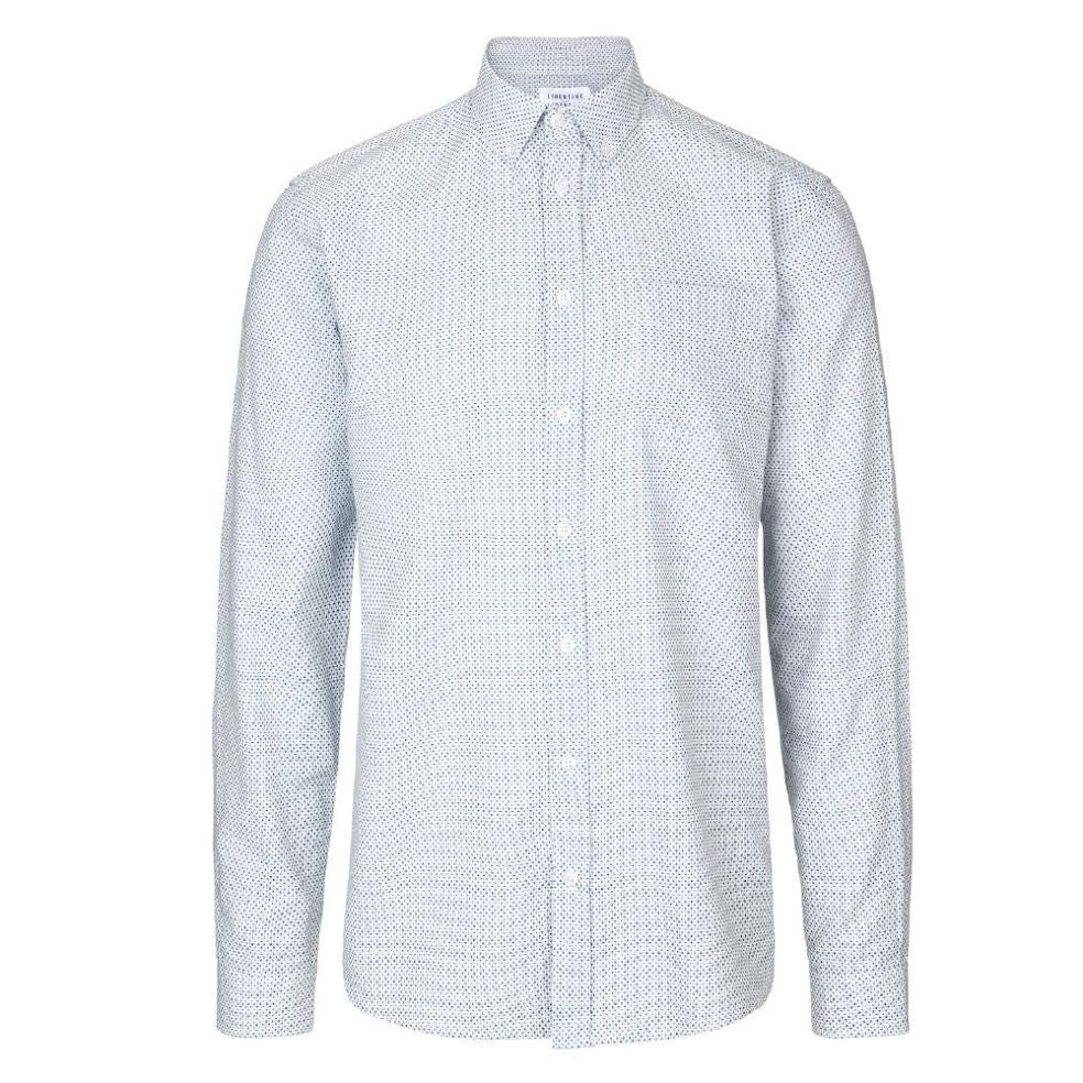 Hunter Shirt Blue/White | Libertine Libertine - &BLANC