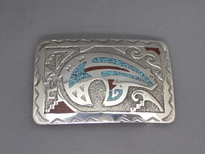 Sacred Bear Chip Inlay Buckle
