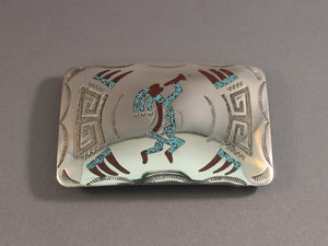 Kokopelli Chip Inlay Buckle