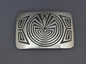 Man in the Maze Overlay Buckle