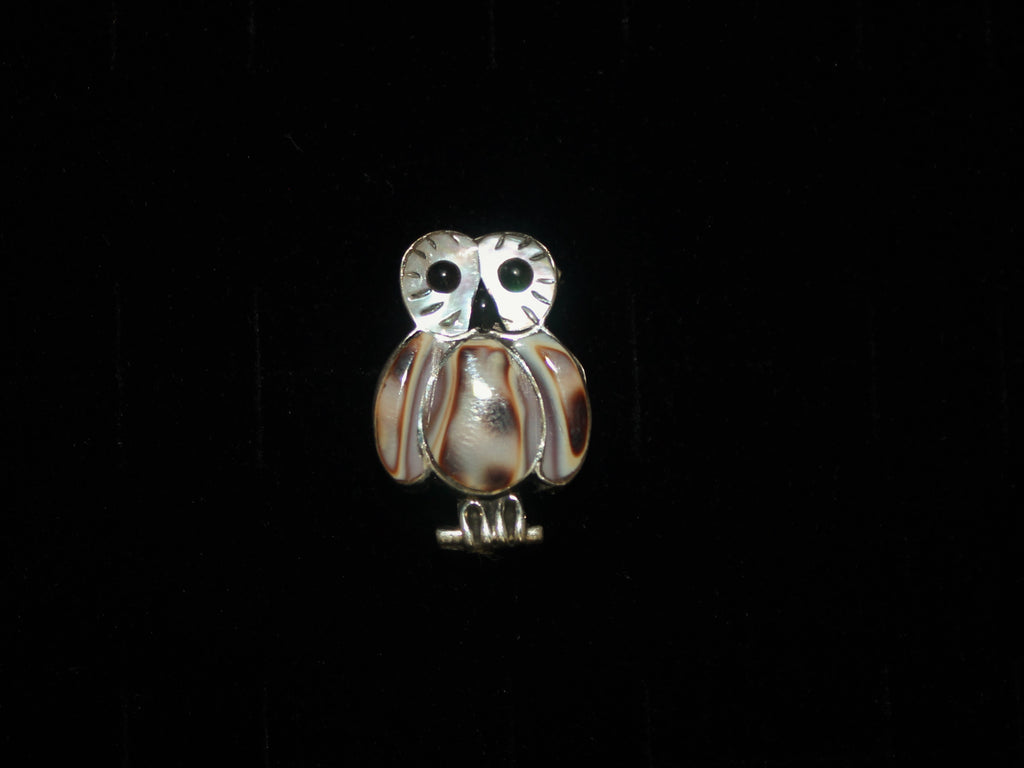 Brown Owl Pin/Pendant