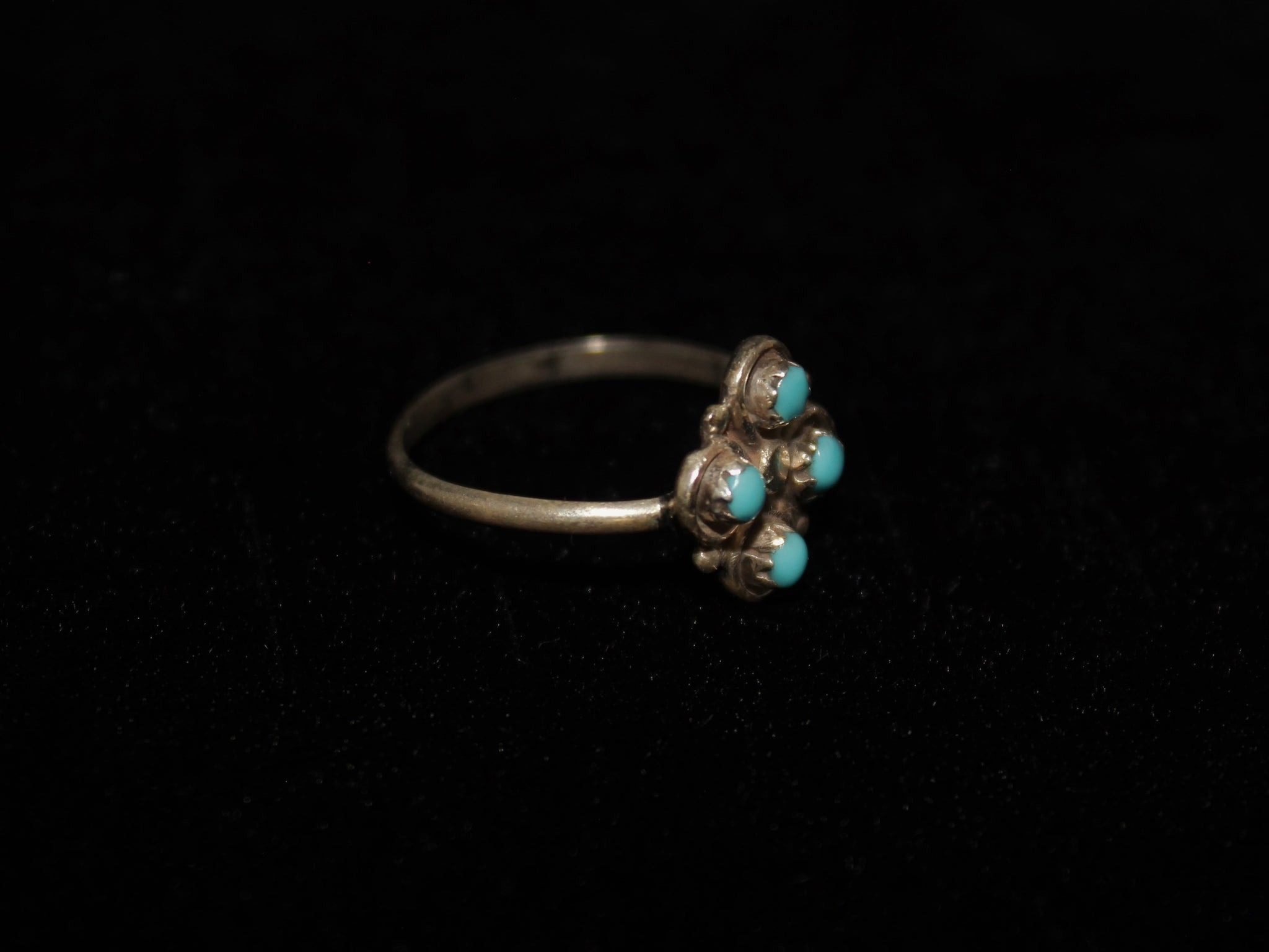 Petit Point Four Clover Ring