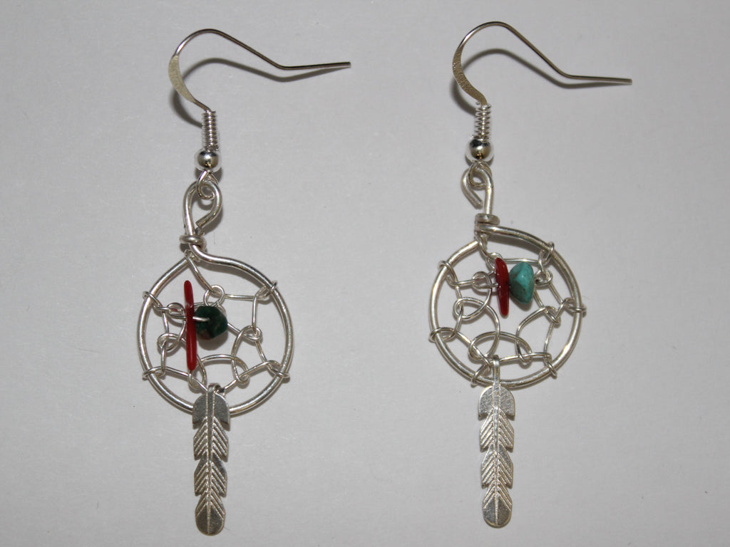 Multi-Stone Dreamcatcher Earrings