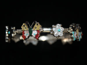 Dazzling Butterfly and Flower Bangle