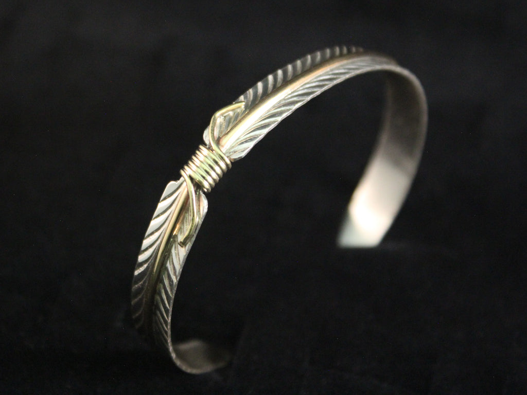 Gold Filled Feather Stacker