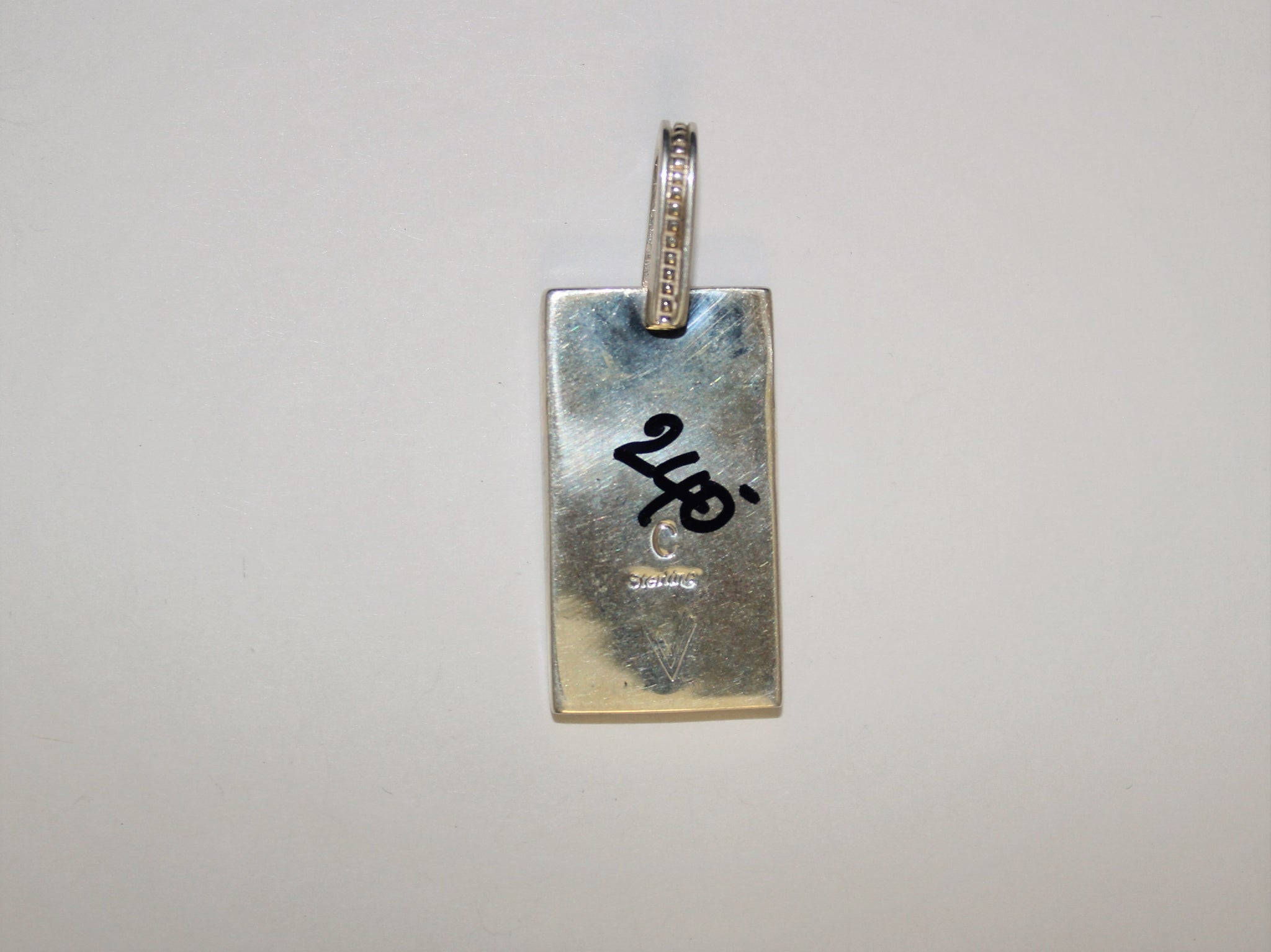"Inlaid ""Dog-Tag"" Pendant"