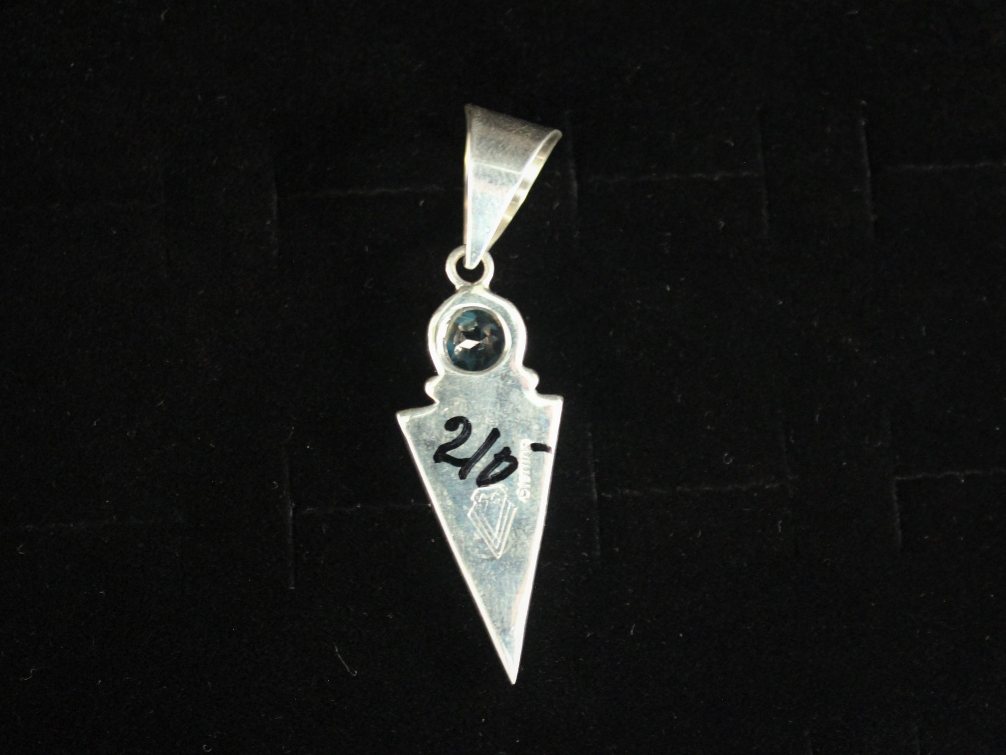 Contemporary Navajo Inlay Pendant